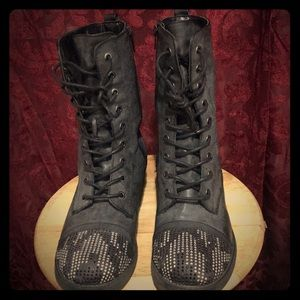 Blinged Out Combat Boots